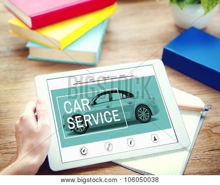 Car Service Fixing Maintenance Garage Repairing Concept