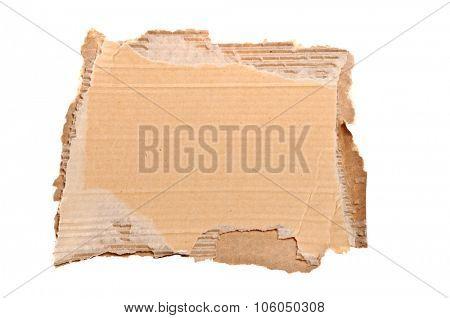 Blank cardboard signage isolated on white background