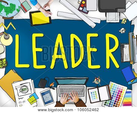 Leader Leadership Manager Management Director Concept