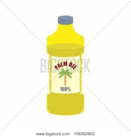Palm Oil Bottle. Plastic Bottle For Food Preparation.