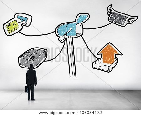 Mail Message Post Letter Drawing Concept