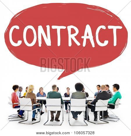 Contract Deal Agreement Negotiation Commitment Concept