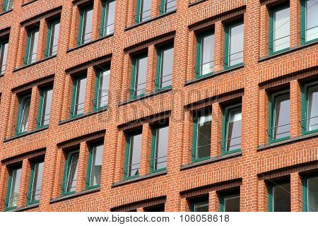 Facade In The Speicherstadt In Hamburg