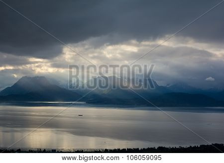 Cloudy Day Over Kachemak Bay