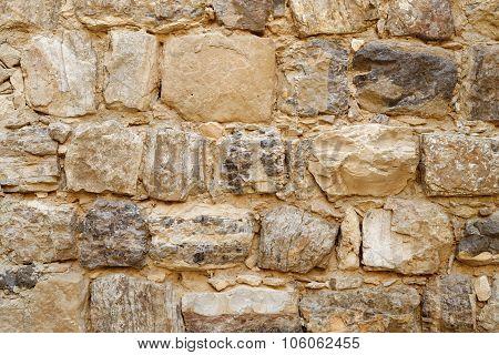 Texture of ancient stone wall of Medieval Kerak castle in Jordan