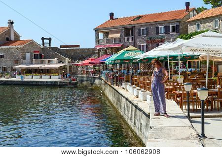 Quay In The Resort Town Of Petrovac, Montenegro