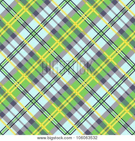 Diagonal Seamless Tartan Texture