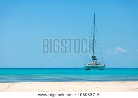 Catamaran at the beach