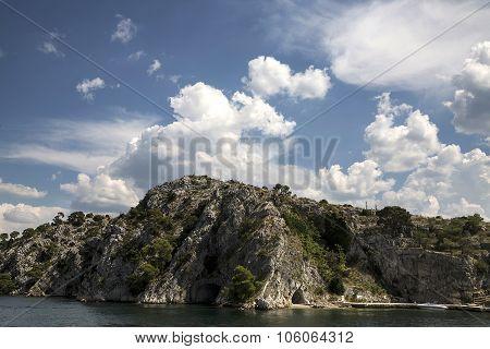 National Park Kornati islands and a marina for yachts and sailboats