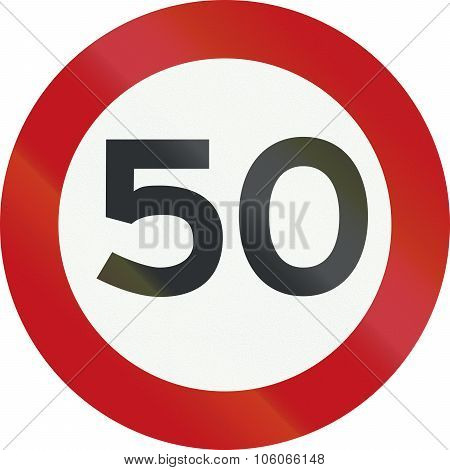 Dutch Road Sign A1 - Speed Limit 50 Kmh