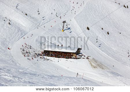Cafe at mountains - ski resort Bad Gastein Austria