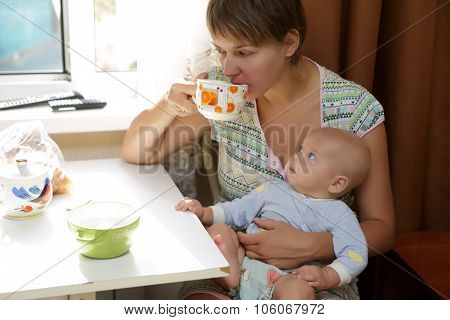 Mother With Baby On Your Lap