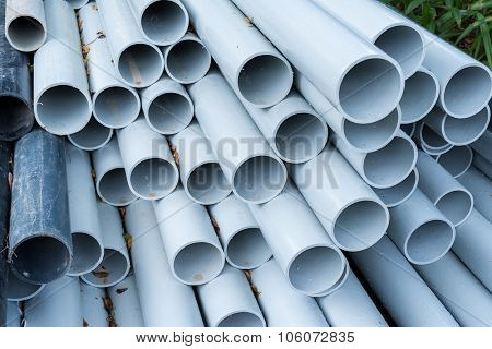 pvc pipes close up