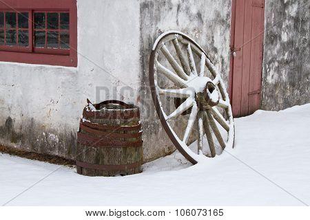 Winter At The Blacksmiths Shop