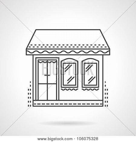 Store flat line vector icon