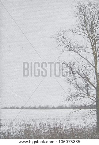 Stylized Vintage Paper Background For Winter Posters