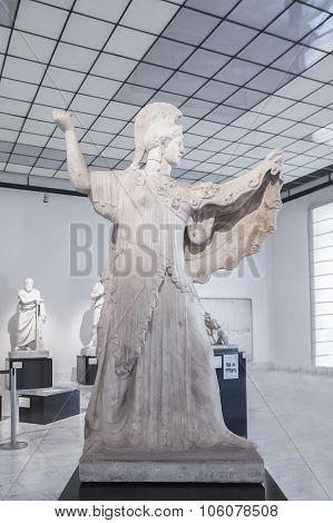 Athena Promachos  Or Herculaneum Pallas In Naples National Archaeological Museum