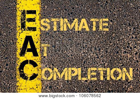 Business Acronym Eac As Estimate At Completion