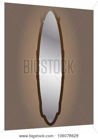 Wall Mirror Oval