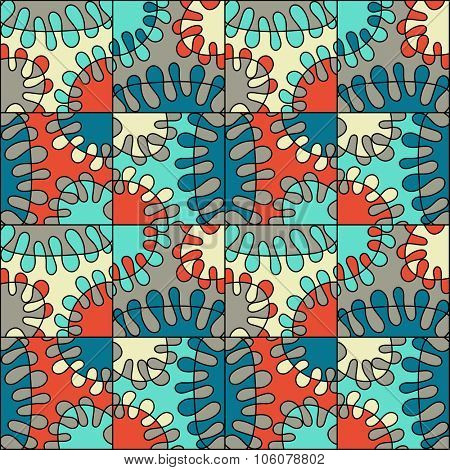 seamless colorful mod abstract pattern