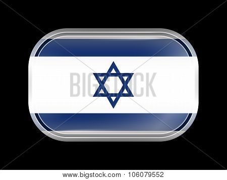 Flag Of Israel. Rectangular Shape With Rounded Corners