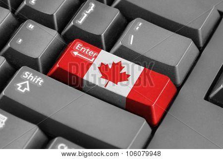 Enter Button With Canada Flag