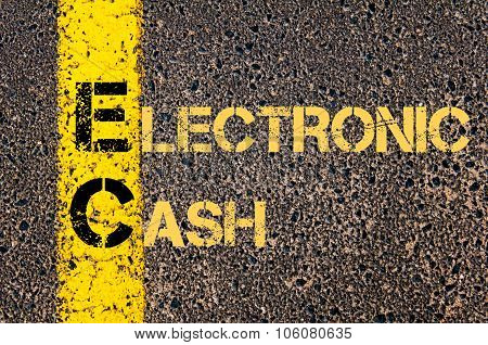 Business Acronym Ec As Electronic Cash