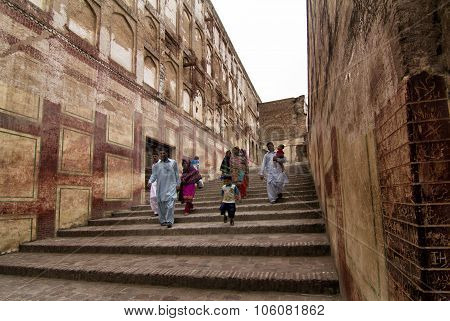 Entrance And Stairs Of Lahore Fort In Punjab, Pakistan