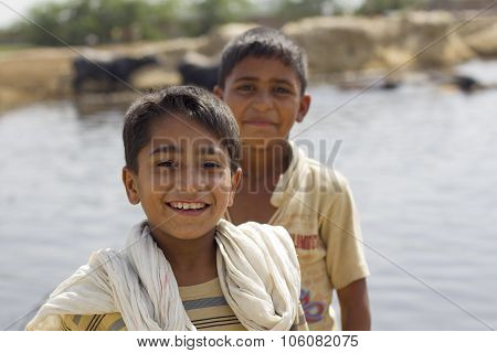 Portrait Of 2 Pakistani Boys