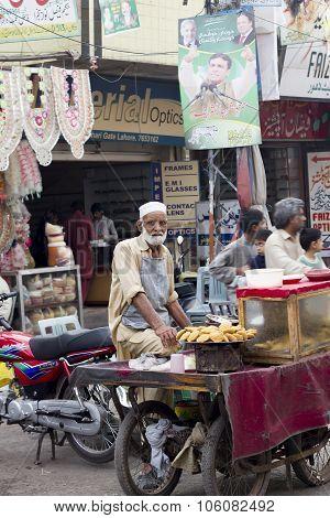 Street Vendor At The Bazaar