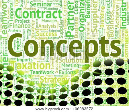 Concepts Word Represents Conception Words And Thinking