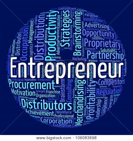 Entrepreneur Word Means Businessman Dealer And Magnate