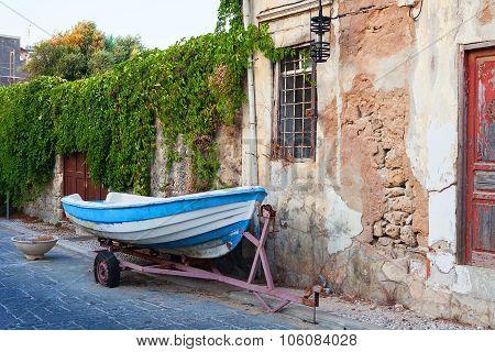 Street in city Rhodes, Greece