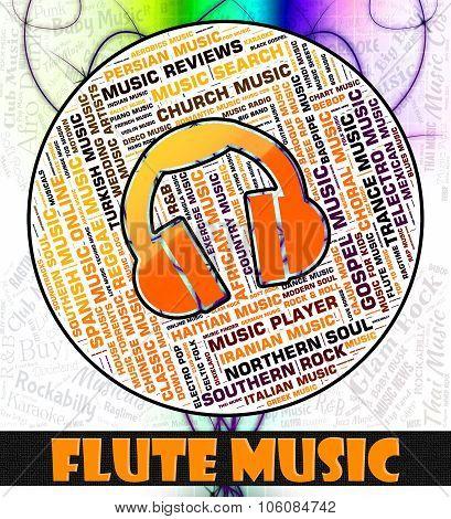 Flute Music Indicates Sound Tracks And Flautist