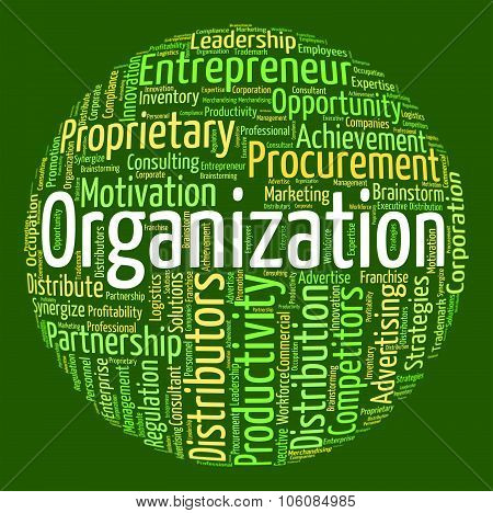 Organization Word Indicates Structuring Consortium And Text