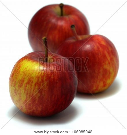 Three delicious organic red apples