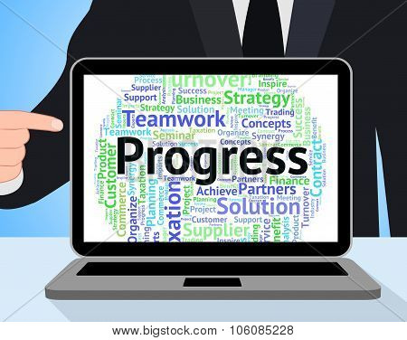 Progress Word Means Progression Betterment And Wordcloud