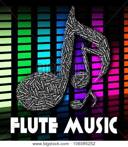 Flute Music Means Sound Track And Audio