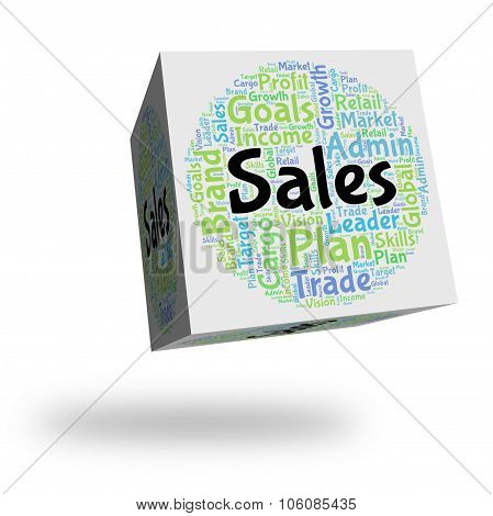 Sales Word Means Wordclouds Marketing And Retail