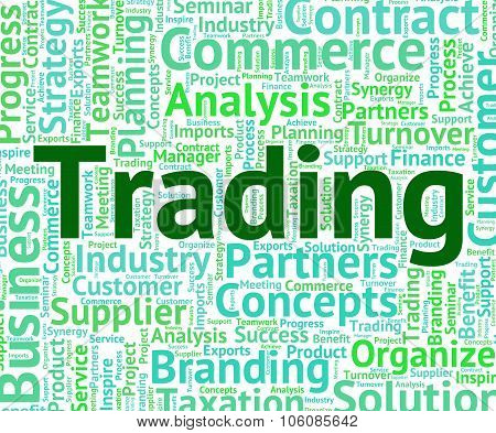 Trading Word Means Wordcloud Text And Commerce