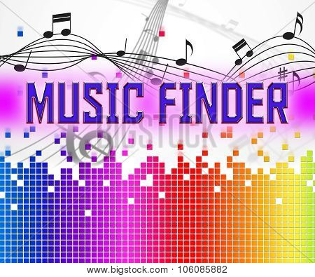 Music Finder Shows Sound Tracks And Audio