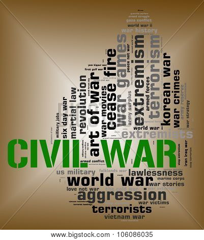 Civil War Shows Within Country And Bloodshed