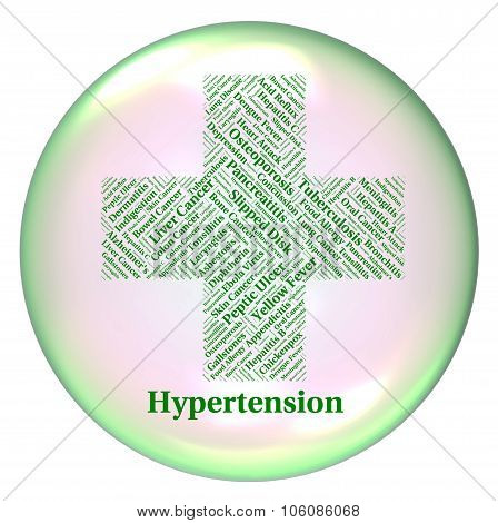 Hypertension Illness Means High Blood Pressure And Ailments