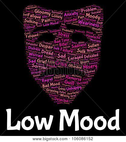 Low Mood Shows Grief Stricken And Despairing
