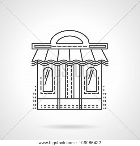 Book shop facade flat line vector icon