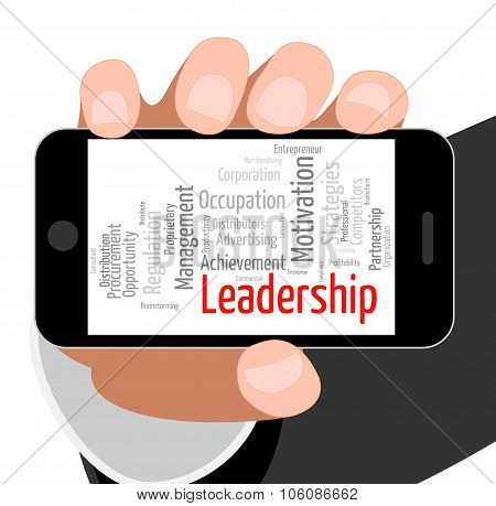 Leadership Word Means Authority Words And Led
