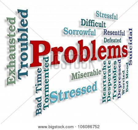 Problems Word Indicates Stumbling Block And Dilemma