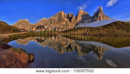Baita Segantini,, Trentino Alto Adige, Italy.
