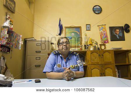 Nicaraguan Police Officer