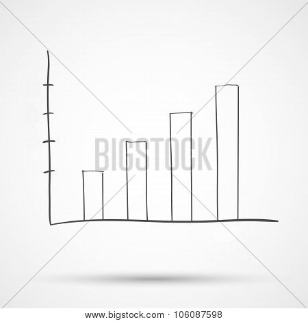 Sketch diagram chart statistical text. illustration.
